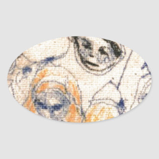 Adesivo Oval Caras