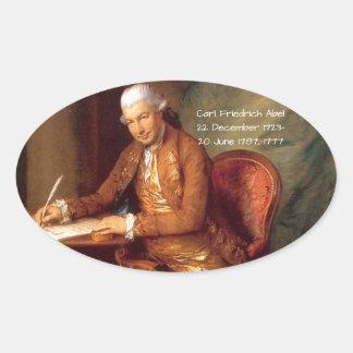 Adesivo Oval Carl Friedrich Abel