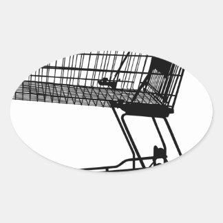 Adesivo Oval Carrinho de compras