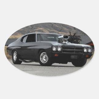Adesivo Oval Carro 1970 do músculo do arrasto de Chevy Chevelle