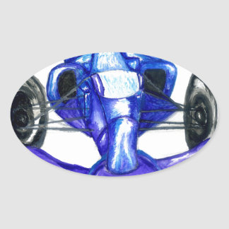 Adesivo Oval Carro desportivo Sketch3
