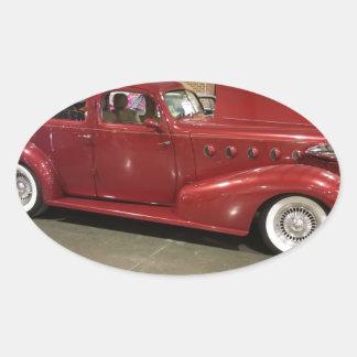 Adesivo Oval Carro do clássico do vintage