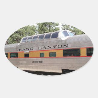 Adesivo Oval Carruagem Railway do Grand Canyon, arizona