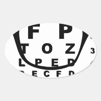 Adesivo Oval Carta de teste do olho de Blurr