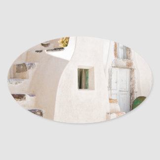 Adesivo Oval Casa em Santorini