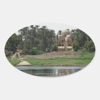 Adesivo Oval Cena de Nile do rio