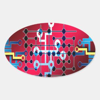 Adesivo Oval cente do controle de traço dos circuitos do