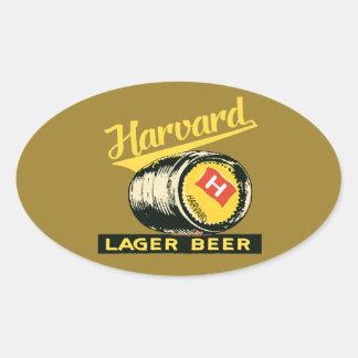 Adesivo Oval Cerveja de cerveja pilsen de Harvard