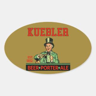 Adesivo Oval Cerveja inglesa do porteiro de Kuebler