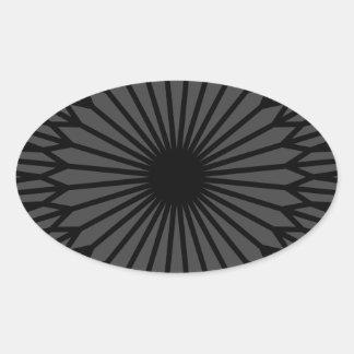 Adesivo Oval Chakra escuro