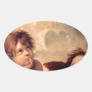 Adesivo Oval Cherubim - Raphael