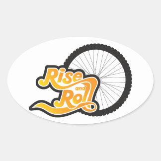 Adesivo Oval ciclista da elevação e do rolo