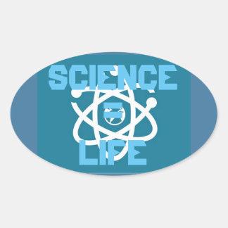 Adesivo Oval Ciência = vida