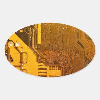 Adesivo Oval circuito eletrônico amarelo board.JPG
