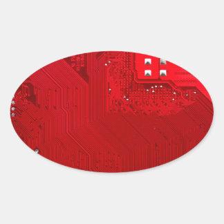 Adesivo Oval circuito eletrônico vermelho board.JPG