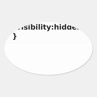 Adesivo Oval Classe do CSS do codificador de Ninja