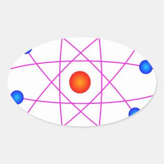 Adesivo Oval clipart modelo do vetor do átomo