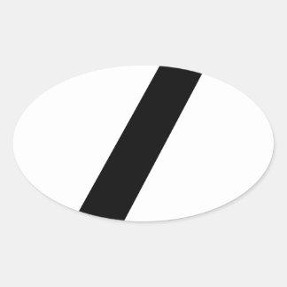 Adesivo Oval Codifique a ruptura