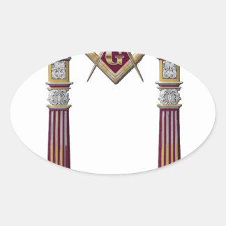 Adesivo Oval Colunas maçónicas