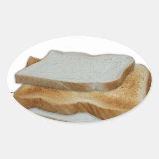 Adesivo Oval Comida do homem de Tony Fernandes - sanduíche do