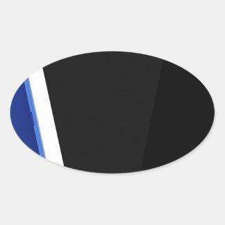 Adesivo Oval Computador da tabuleta no branco