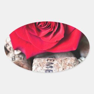 Adesivo Oval CONVERSAS ROSA with cork
