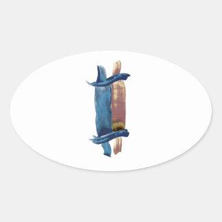 Adesivo Oval Cor de água Torah