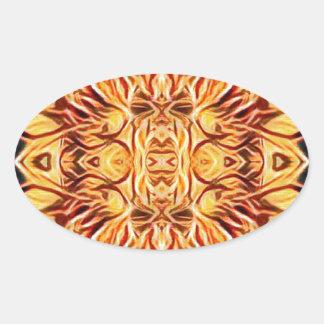 Adesivo Oval Cor psicadélico