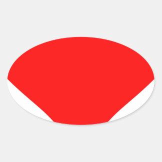 Adesivo Oval Coração grande
