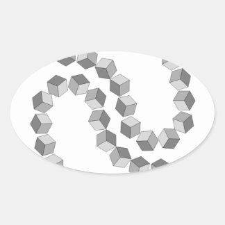 Adesivo Oval Corrente de bloco