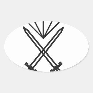 Adesivo Oval Corte do diamante