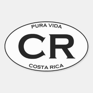 Adesivo Oval CR - Costa Rica