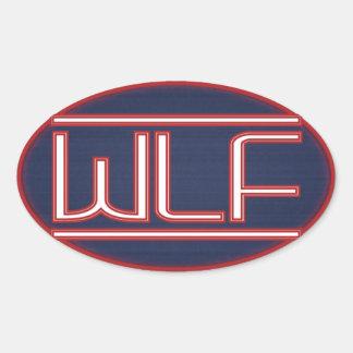 Adesivo Oval Crachá de WLF