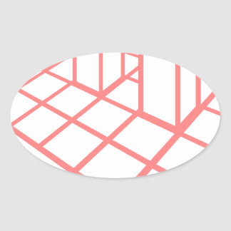 Adesivo Oval Crescimento da carta