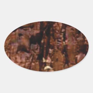 Adesivo Oval crumble marrom da rocha