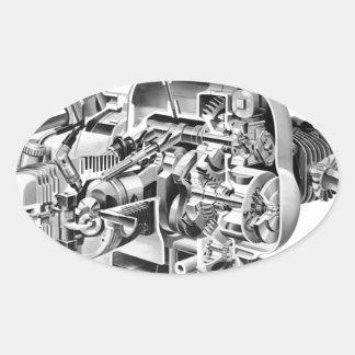 Adesivo Oval Cutaway do Airhead