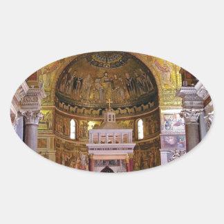 Adesivo Oval Dentro da igreja yeah