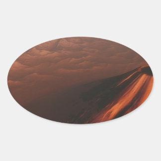 Adesivo Oval Deserto estrangeiro do planeta