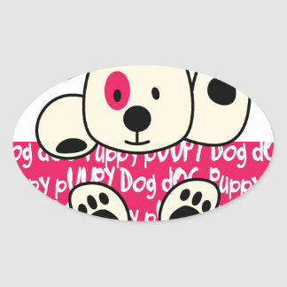 Adesivo Oval desgaste dos miúdos, cão do bebê