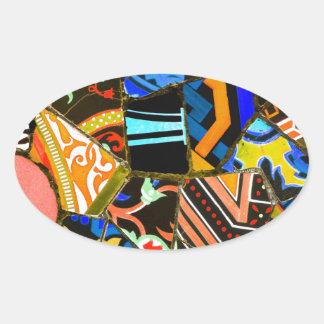 Adesivo Oval Design abstrato