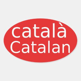 Adesivo Oval Design Catalan da língua
