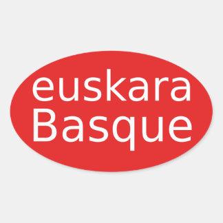 Adesivo Oval Design da língua Basque