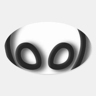 Adesivo Oval Design estrangeiro das cinzas