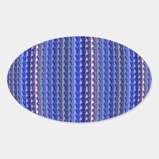 Adesivo Oval Design geométrico roxo colorido brilhante mega