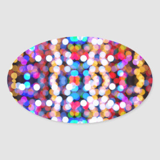 Adesivo Oval design novo do Natal