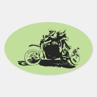 Adesivo Oval Design simples de Sidecarcross
