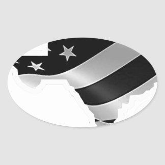 Adesivo Oval Design txt.gif branco de Harvey