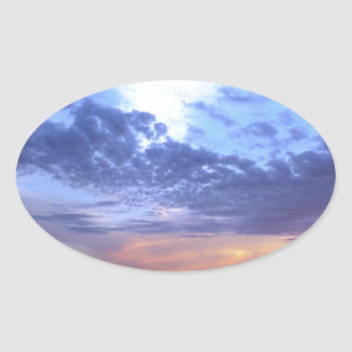 Adesivo Oval Desvanecimento no crepúsculo