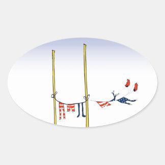 Adesivo Oval Dia da lavagem do futebol, fernandes tony
