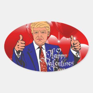 Adesivo Oval dia dos namorados Donald Trump